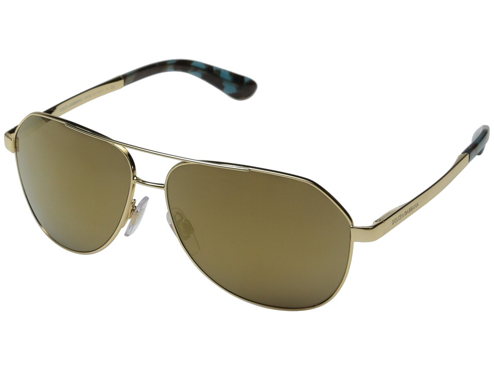 Dolce & Gabbana - 0DG2144 (Gold/Gold Mirror) Fashion Sunglasses