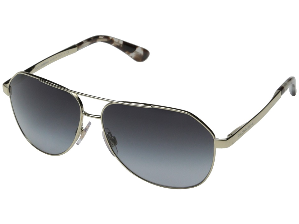 Dolce & Gabbana - 0DG2144 (Pale Gold/Grey Gradient) Fashion Sunglasses