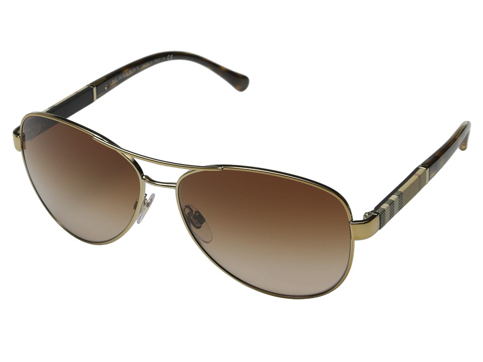 Burberry - 0BE3080 (Gold/Brown Gradient) Fashion Sunglasses