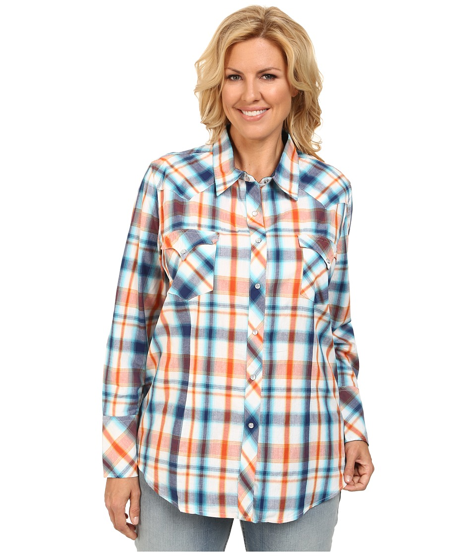 Roper - Plus Size 9532 Sporty Plaid (Blue) Women's Clothing