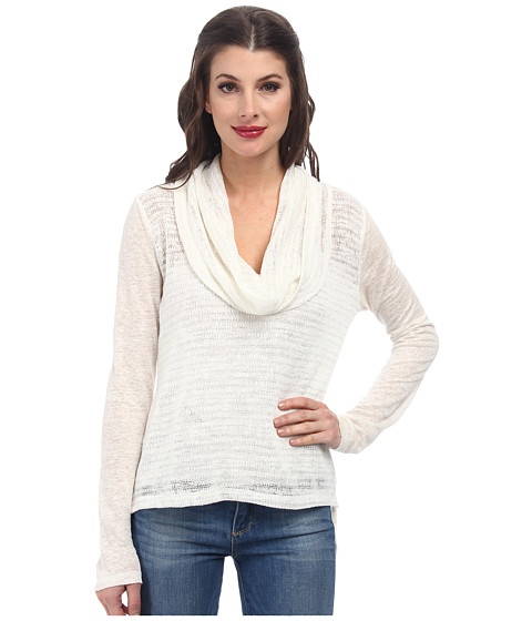 Sanctuary - Holiday in the Sun Cowl (Winter White) Women's Long Sleeve Pullover