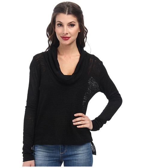 Sanctuary - Holiday in the Sun Cowl (Black) Women's Long Sleeve Pullover