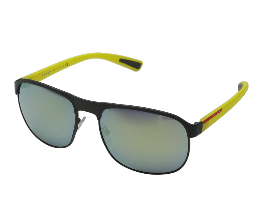 Prada Linea Rossa - 0PS 51QS (Grey Rubber/Yellow) Fashion Sunglasses
