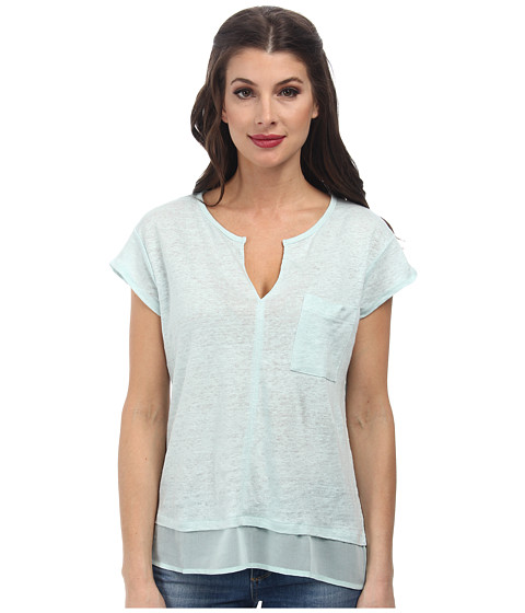 Sanctuary - City Mix Tee (Winter Mint) Women's Short Sleeve Pullover