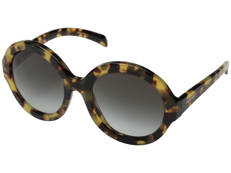 Prada - 0PR 06RS (Medium Havana/Grey Gradient) Fashion Sunglasses