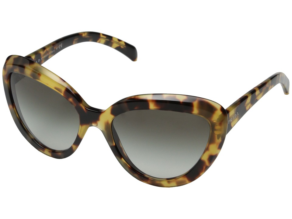 Prada - 0PR 08RS (Medium Havana/Grey Gradient) Fashion Sunglasses
