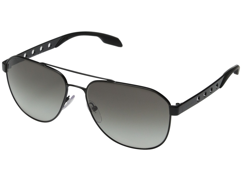 Prada - 0PR 51RS (Matte Black/Grey Gradient) Fashion Sunglasses