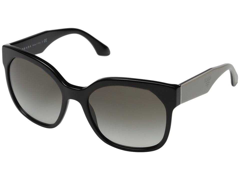 Prada - 0PR 10RS (Black/Grey Gradient) Fashion Sunglasses