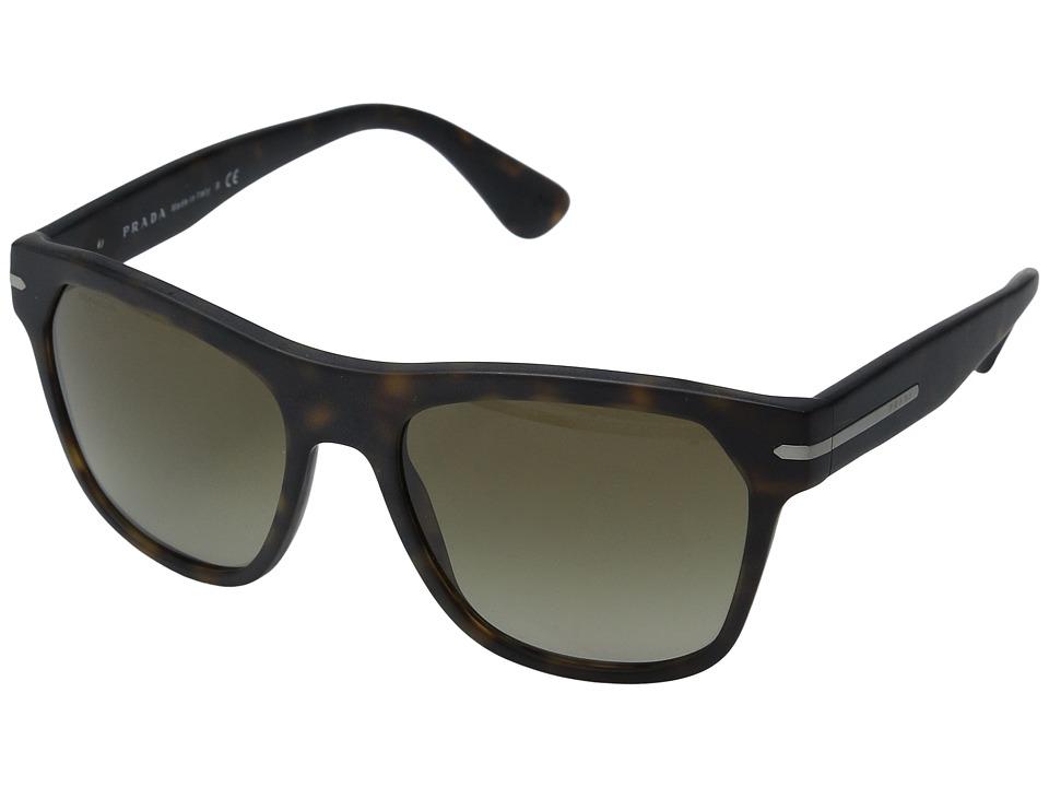 Prada - 0PR 03RS (Matte Havana/Brown Gradient) Fashion Sunglasses