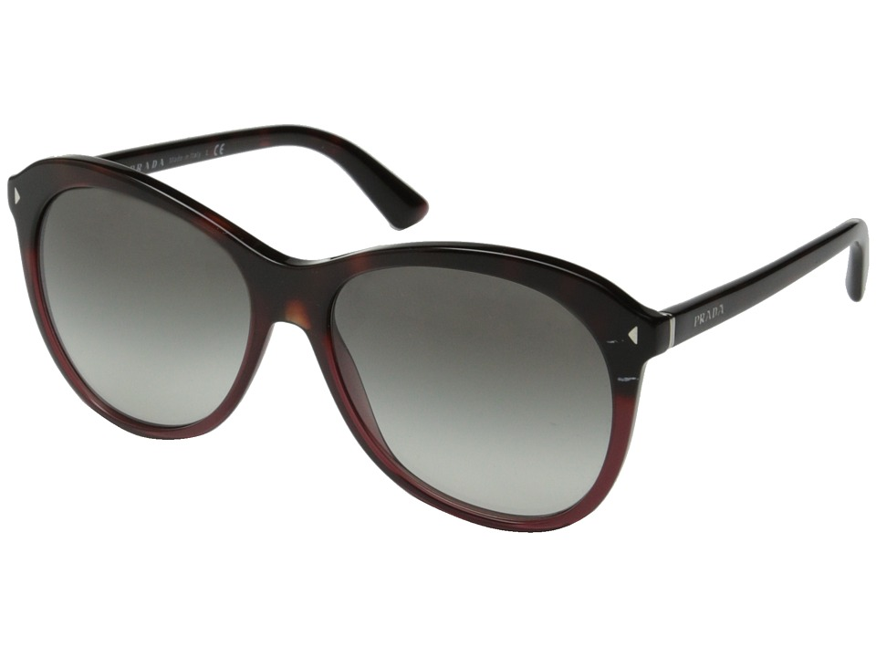 Prada - 0PR 13RS (Red Havana Gradient/Grey) Fashion Sunglasses