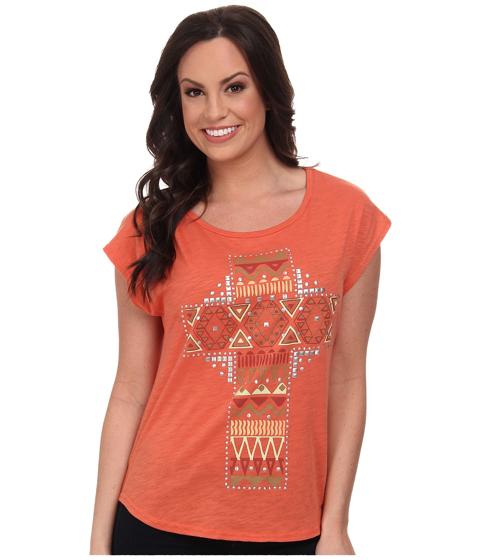 Roper - 9597 C/P Slub Jersey Slouchy Tee (Orange) Women