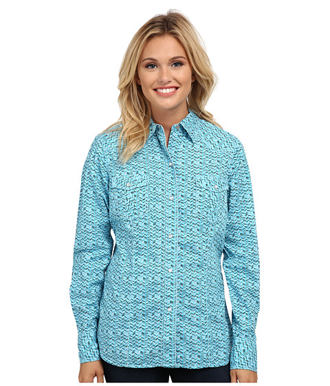 Roper - 9529 Desert Stripe Print (Blue) Women's Clothing