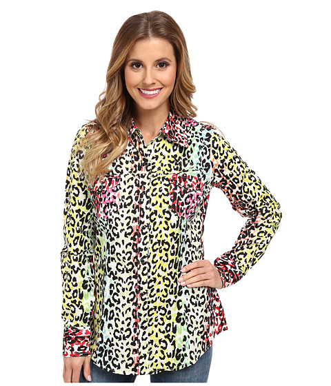 Roper - 9586 Multicolor Leopard Print Shirt (Black) Women's Clothing