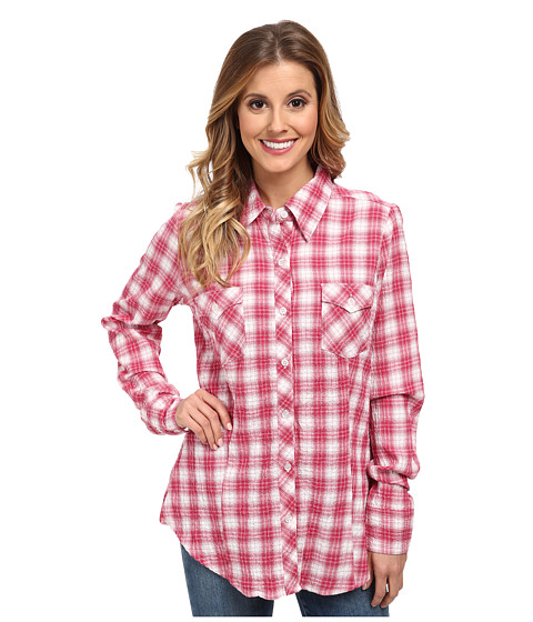 Roper - 9584 Pink Plaid Seersucker Shirt (Pink) Women's Clothing