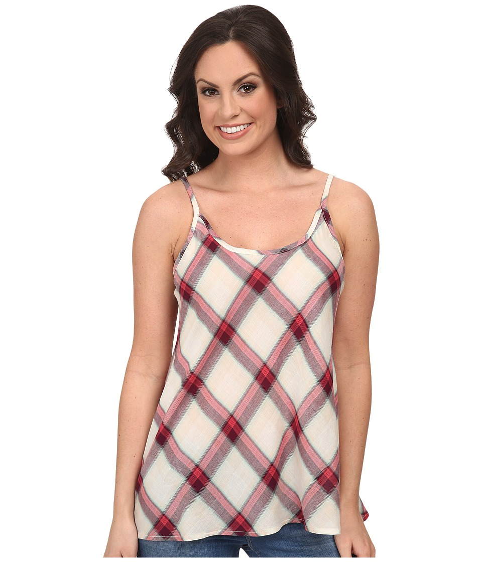 Stetson - 9578 Coral Plaid Tank (Red) Women's Sleeveless