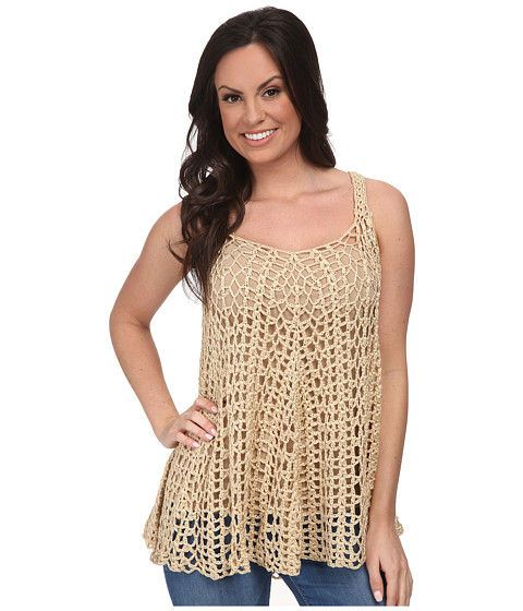 Stetson - 9614 Crochet Lace Tank (White) Women's Blouse
