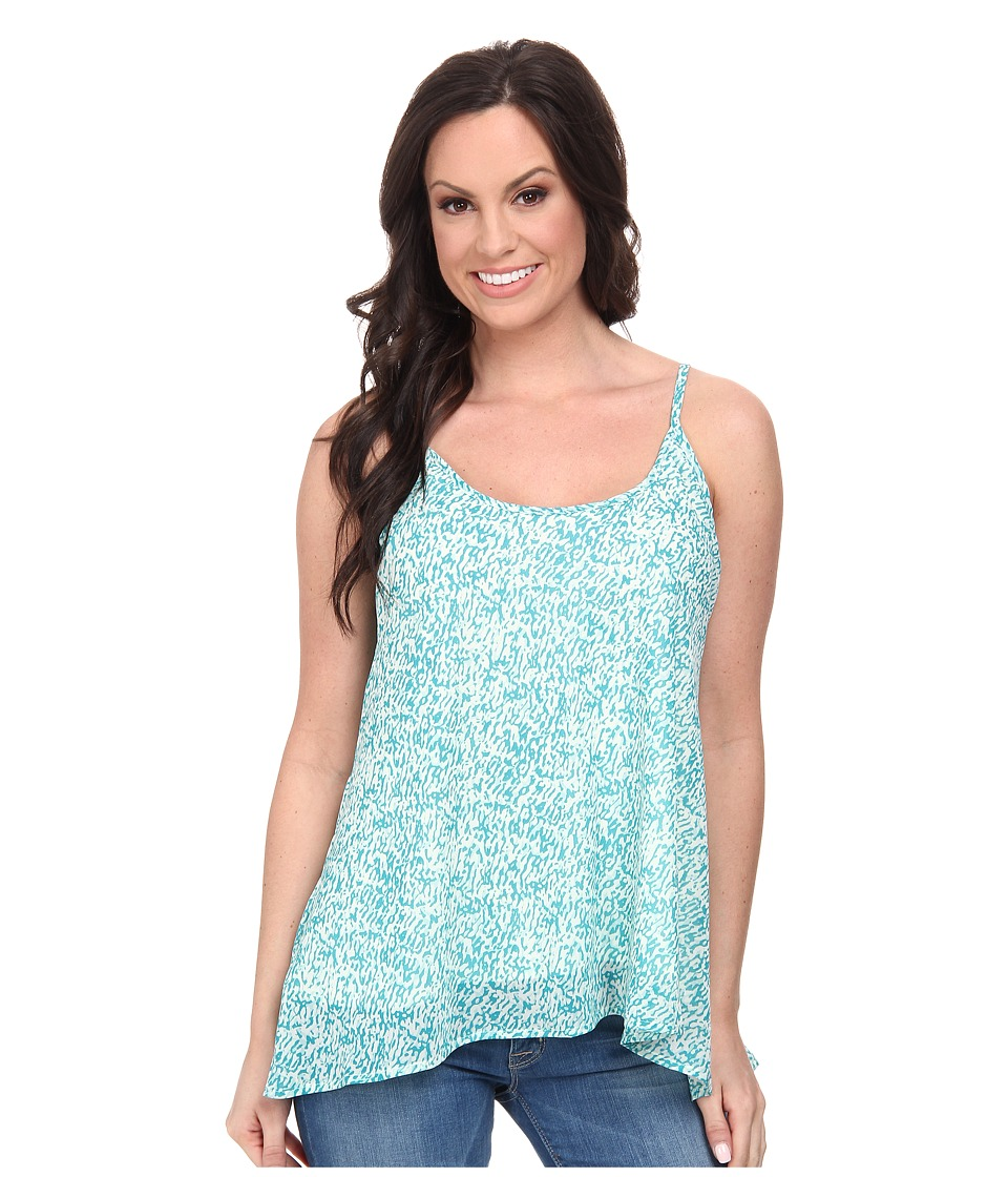 Stetson - 9575 Animal Print Chiffon Tank (Blue) Women's Sleeveless