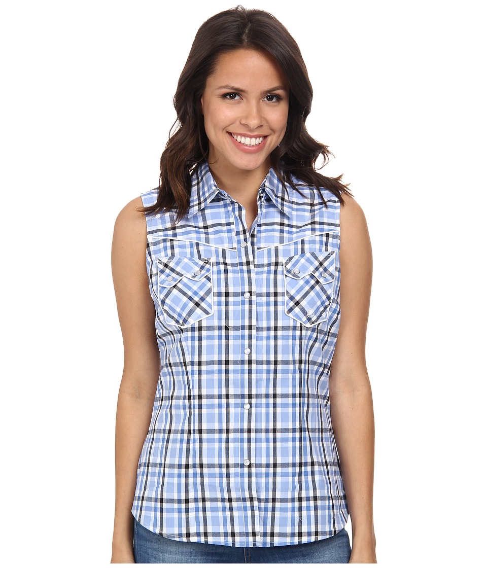 Roper - 9544 Blue Chip Check (Blue) Women's Clothing