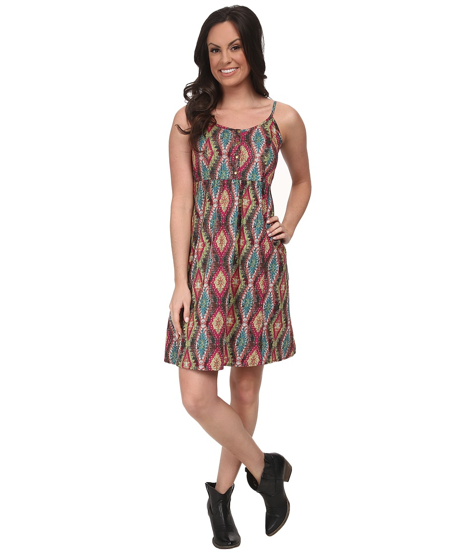 Roper - 9593 Multicolor Aztec Print Sun Dress (Blue) Women's Dress