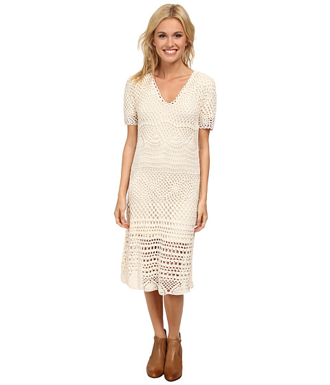 Stetson - 9616 Crochet Lace Dress (White) Women's Dress