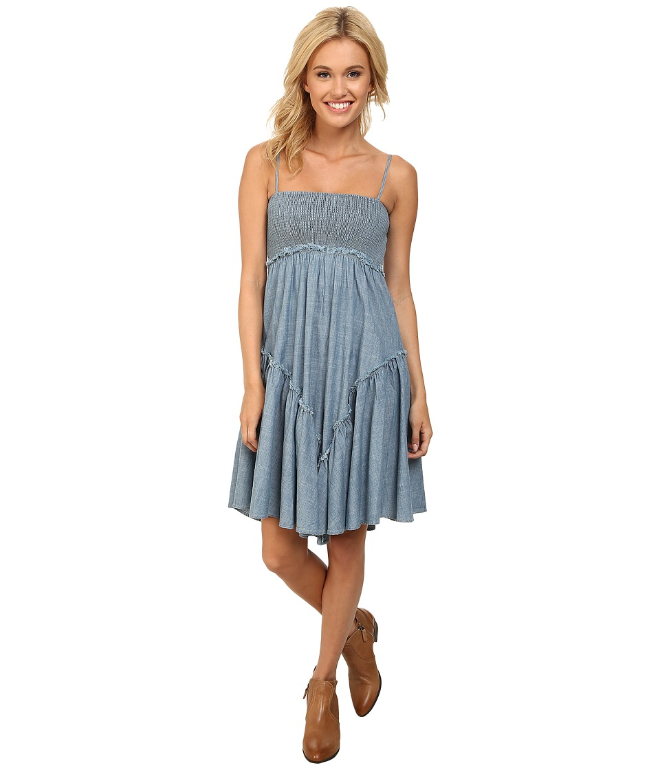 Stetson - 9611 Chambray Dress (Blue) Women