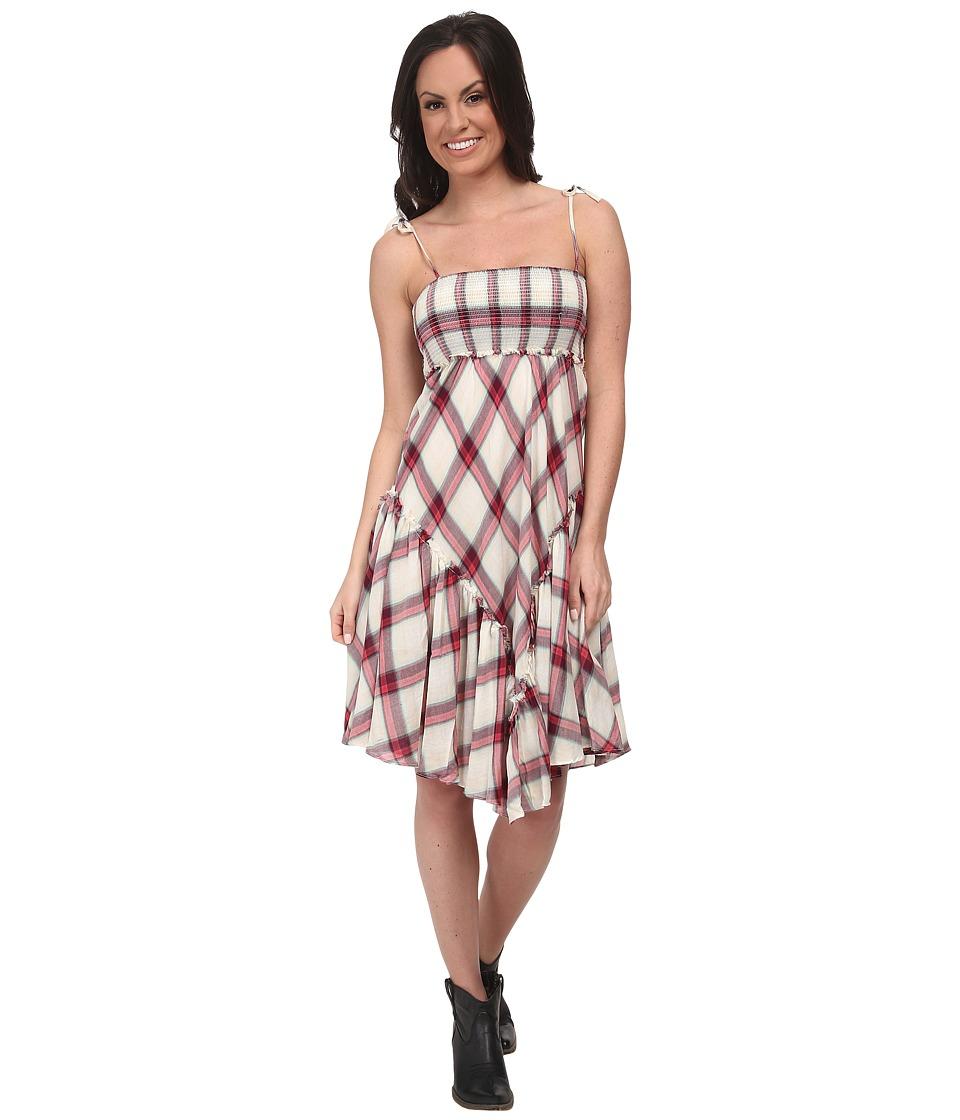 Stetson - 9578 Coral Plaid Sun Dress (Red) Women's Dress