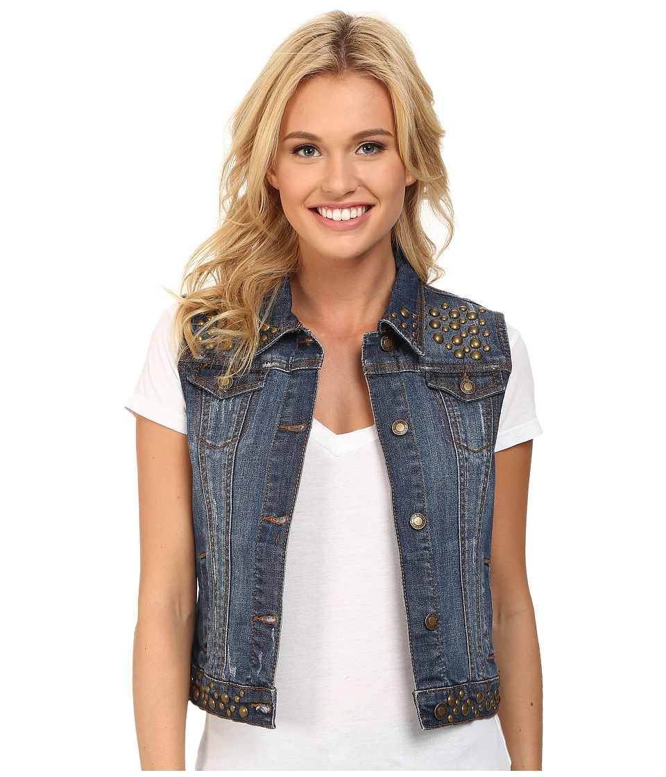 Stetson - Denim Vest Jacket w/ Studding (Blue) Women