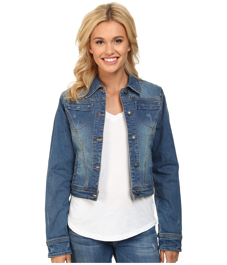 Stetson - Denim Jacket w/ Zipper Cuff And Prints (Blue) Women