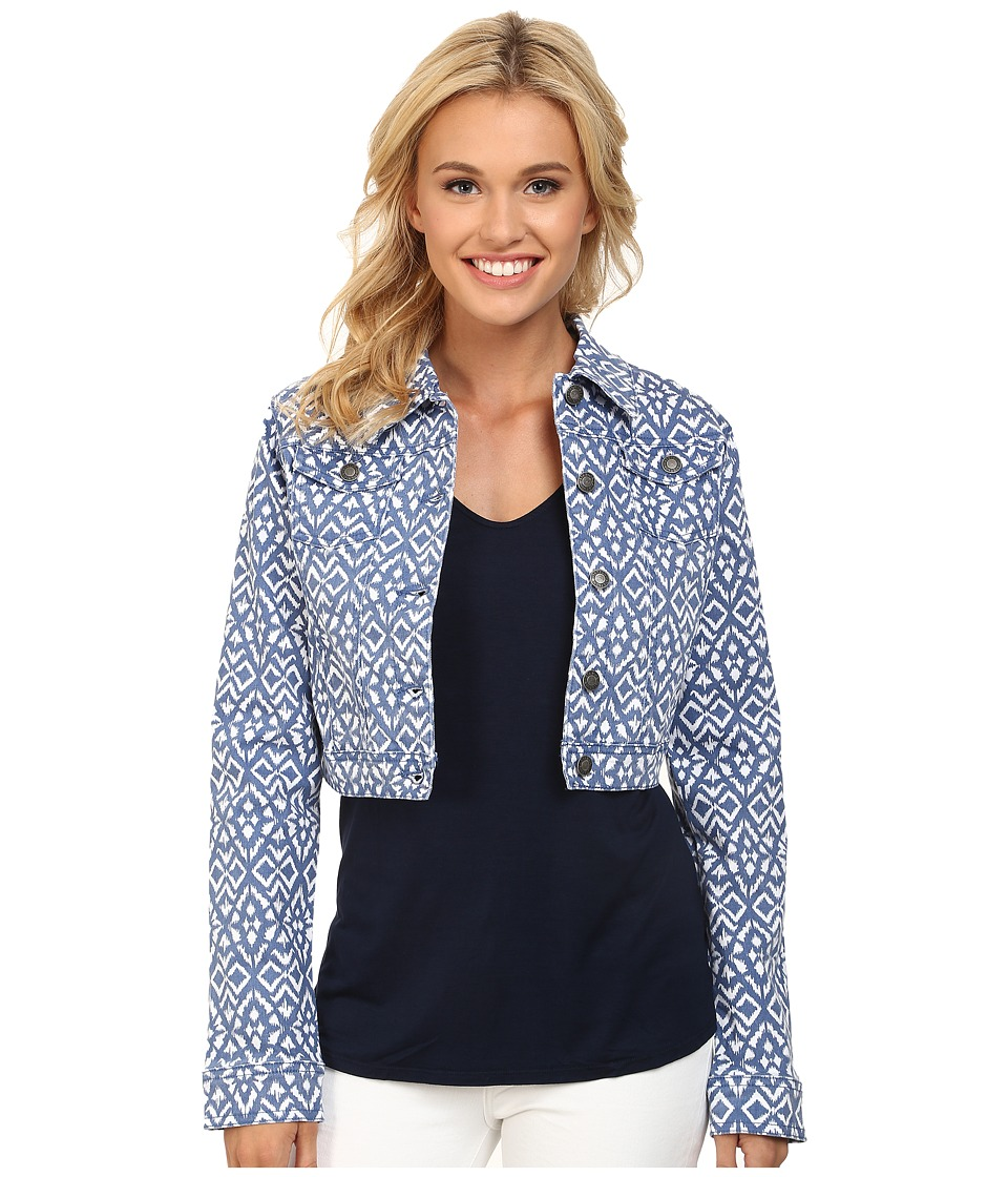 Stetson - Aztec Printed Denim Shrunken Jacket (Blue) Women's Jacket