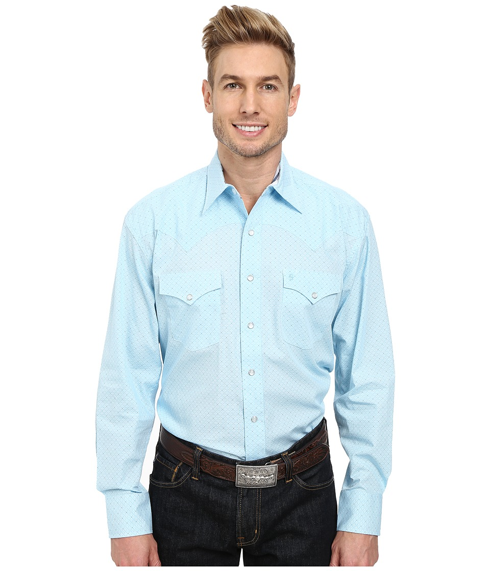 Stetson - 9561 Mini Geo Print On Poplin (Blue) Men