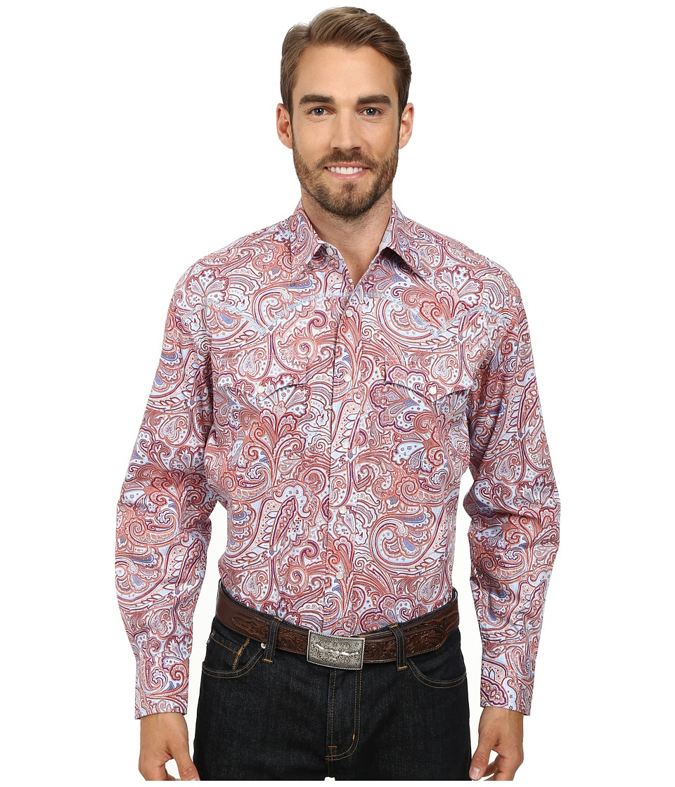 Stetson - 9563 Tall Pines Paisley Print On Popli (Multi) Men's Long Sleeve Button Up