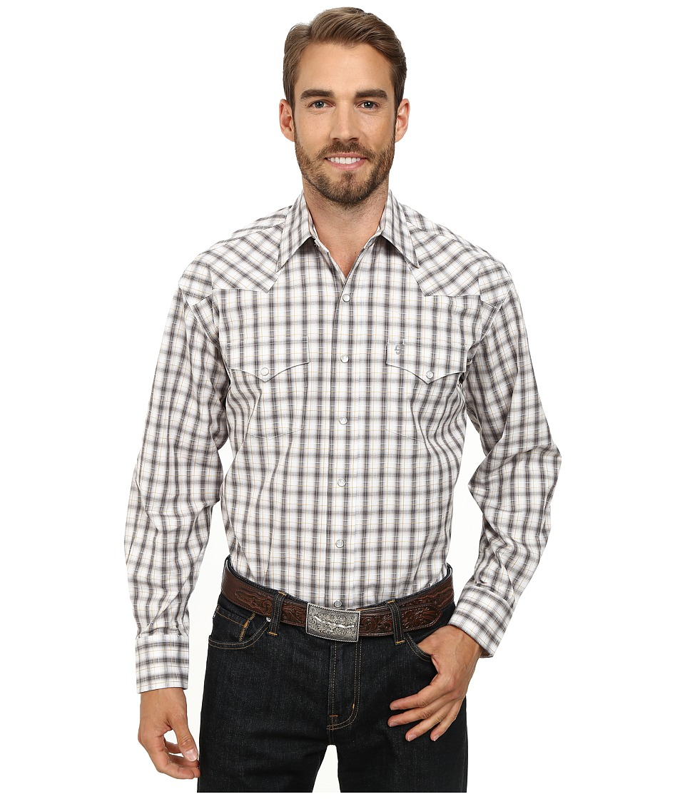 Stetson - 9556 Shadow Ombre Check Flat Wave w/ (Brown) Men's Long Sleeve Button Up