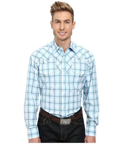 Stetson - 9559 Square Ombre Flat Weave w/ Satin (Blue) Men