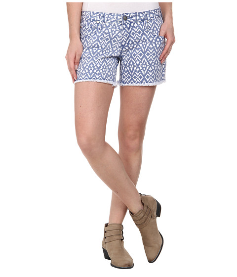 Stetson - Aztec Printed Denim Short (Blue) Women