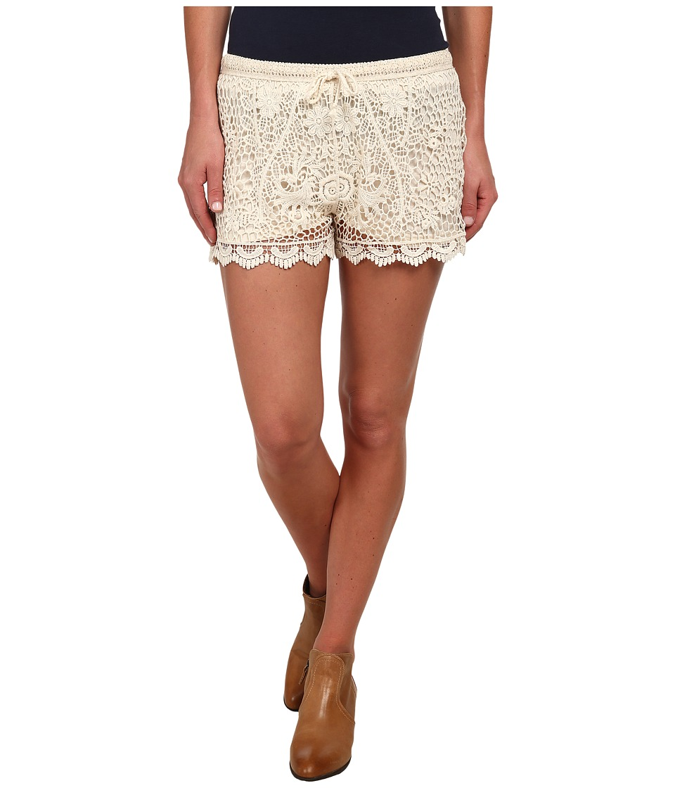 Stetson - 9612 Crochet Lace Boyfriend Fit Short (White) Women's Shorts