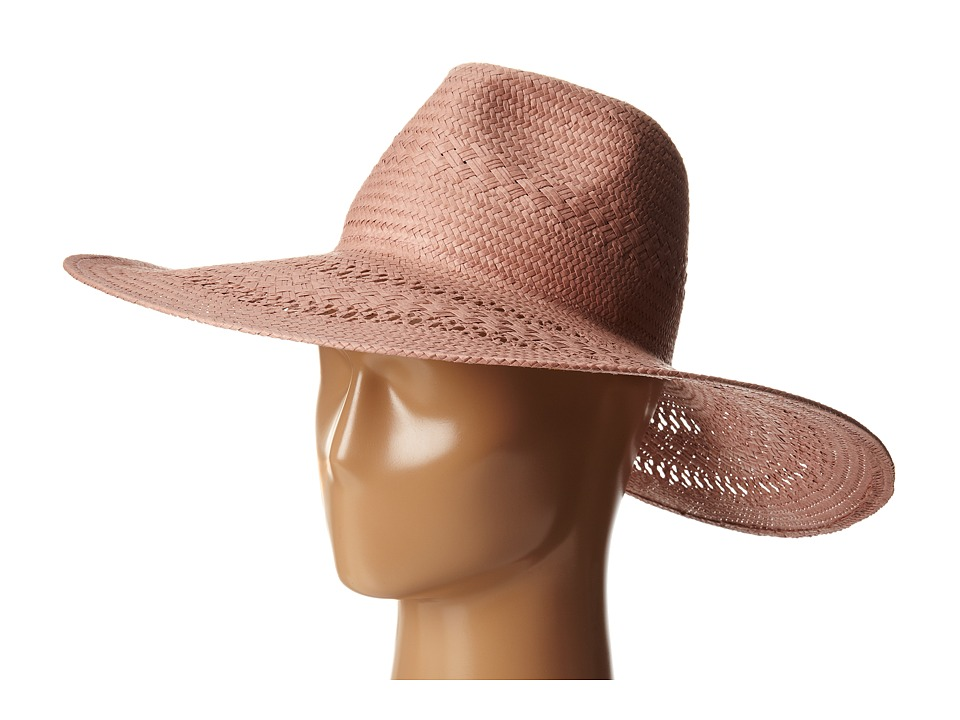 BCBGMAXAZRIA - Basket Weave Floppy Hat (Dusty Pink) Traditional Hats