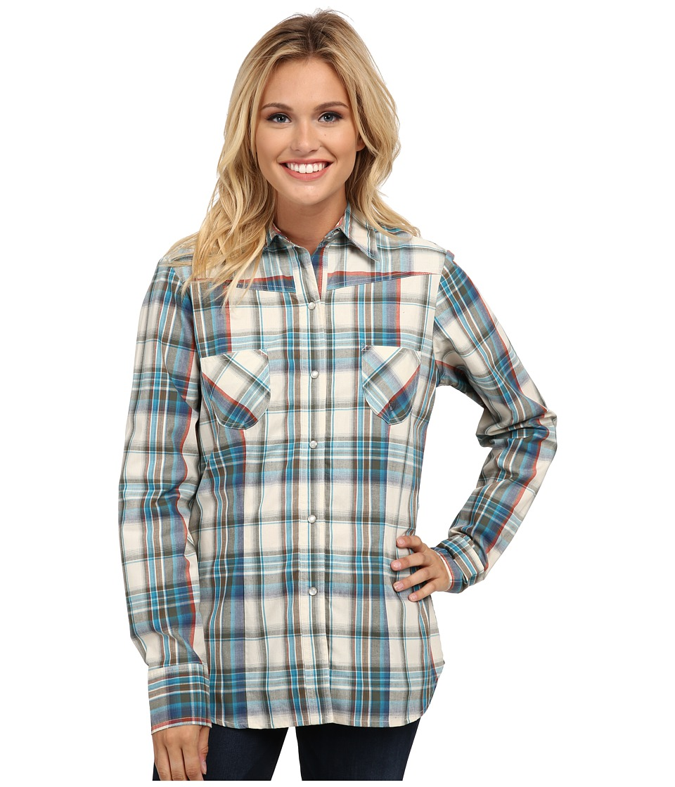 Roper - 9760 League Plaid (Green) Women's Clothing