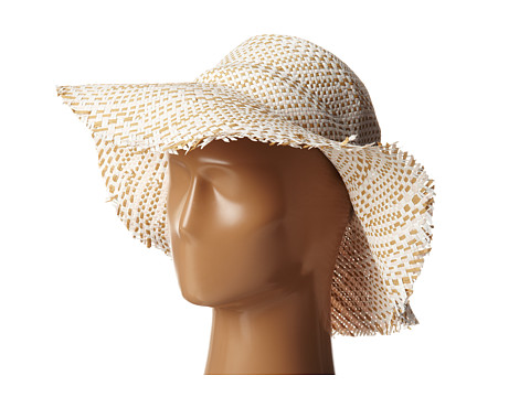 BCBGMAXAZRIA - Multi Floppy Hat (White) Traditional Hats