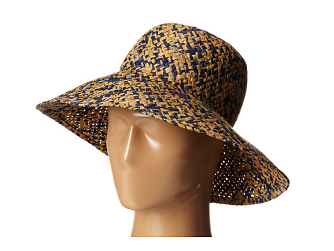 BCBGMAXAZRIA - High Crown Floppy Hat (Blue Depths) Caps