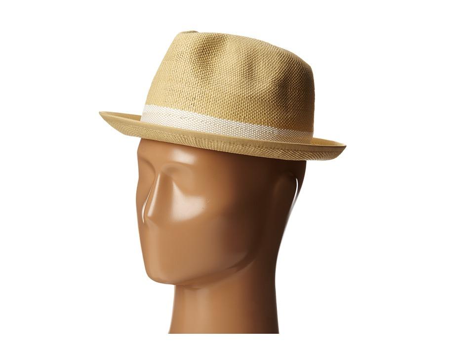 BCBGMAXAZRIA - Pinstripe Fedora Hat (Natural) Fedora Hats