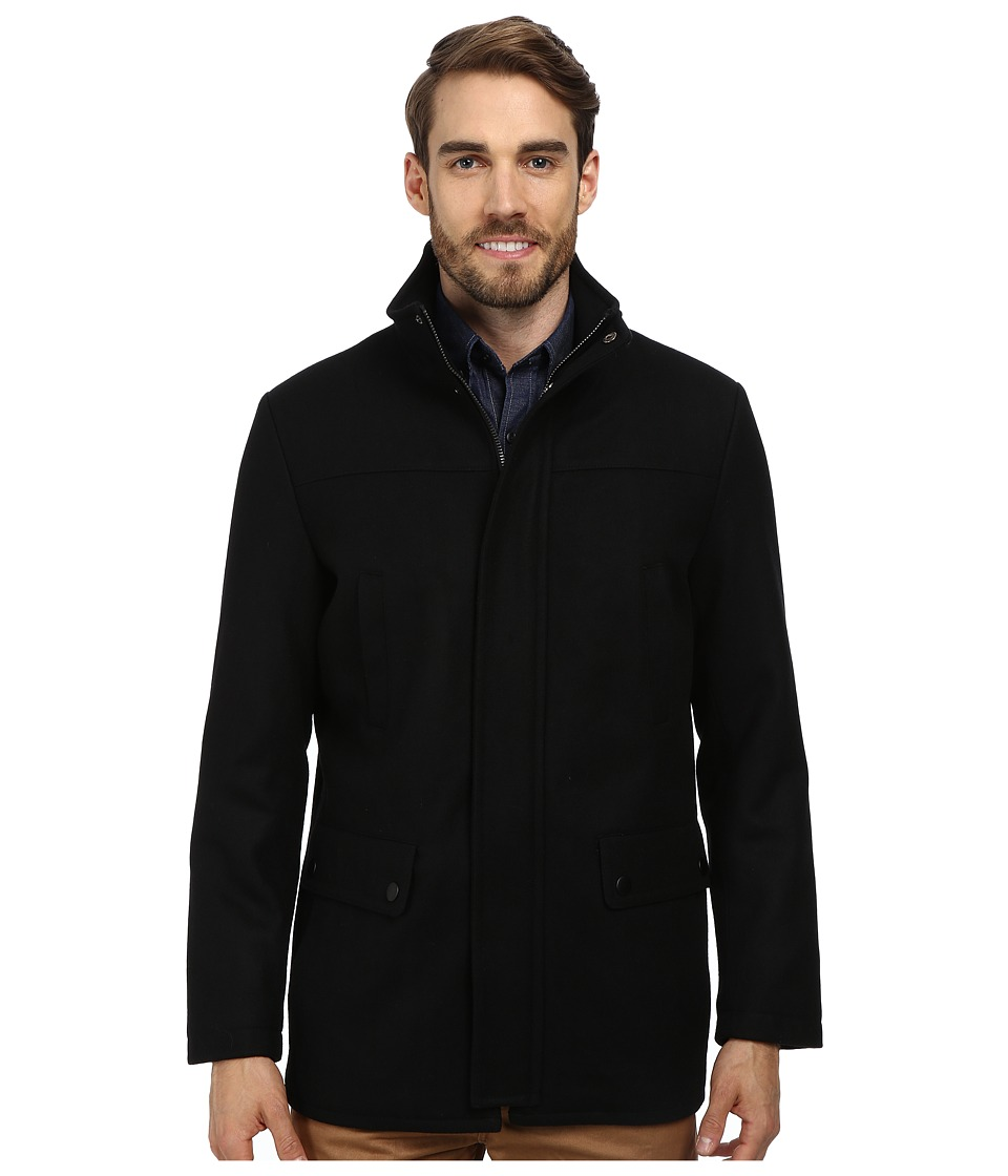 Kenneth Cole Reaction - Wool Car Coat (Black 1) Men's Coat