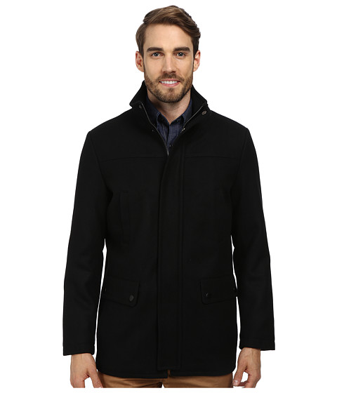 Kenneth Cole Reaction - Wool Car Coat (Black 1) Men