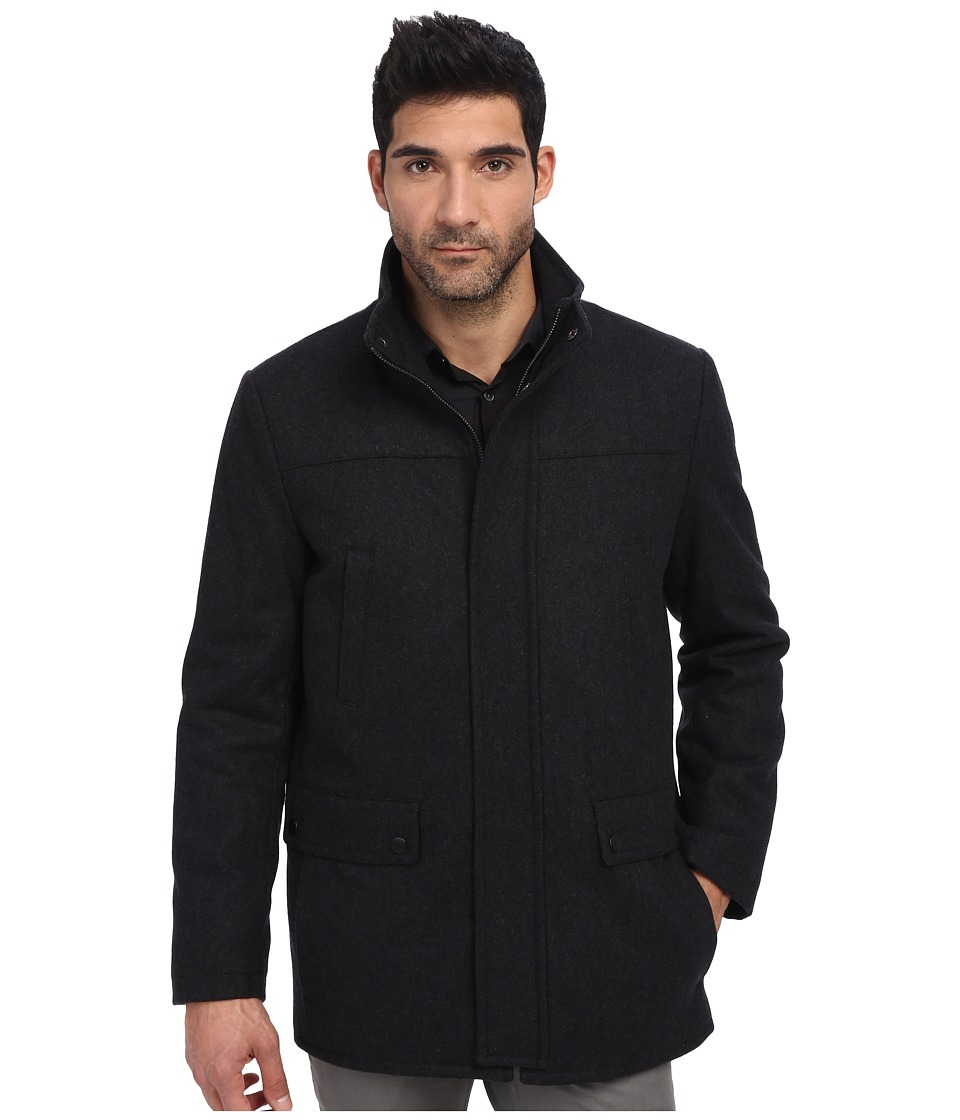 Kenneth Cole Reaction - Wool Car Coat (Charcoal 1) Men's Coat