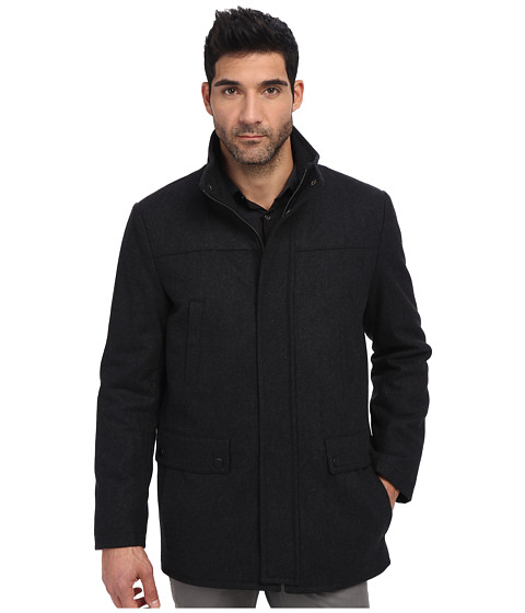 Kenneth Cole Reaction - Wool Car Coat (Charcoal 1) Men
