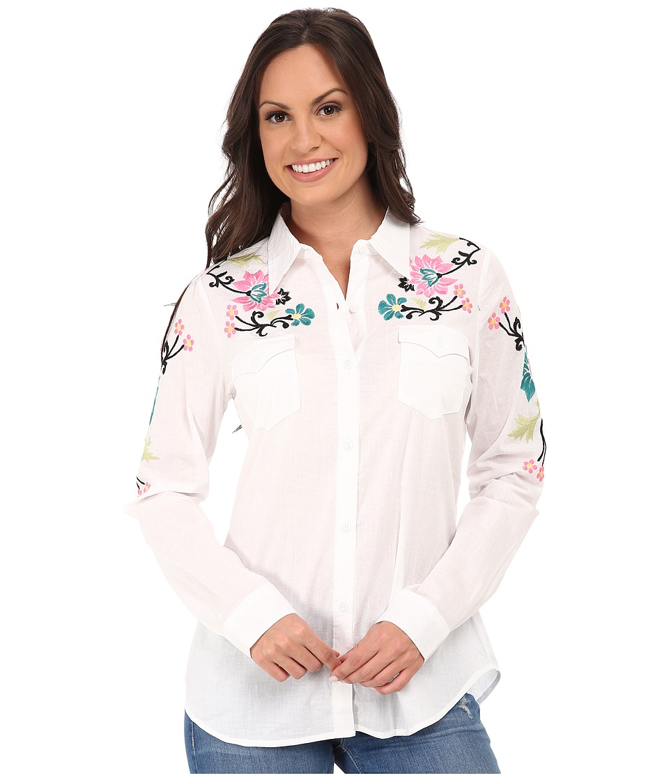 Roper - 9787 White Cotton Lawn Shirt (White) Women's Clothing