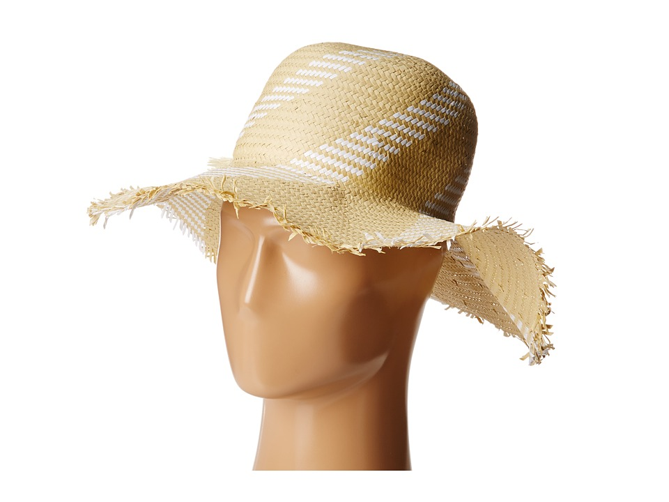 BCBGMAXAZRIA - Pom Pom Floppy Hat (White) Traditional Hats