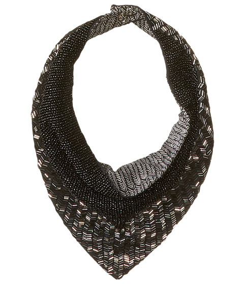 BCBGMAXAZRIA - Herringbone V-Necklace Scarf (Black) Scarves