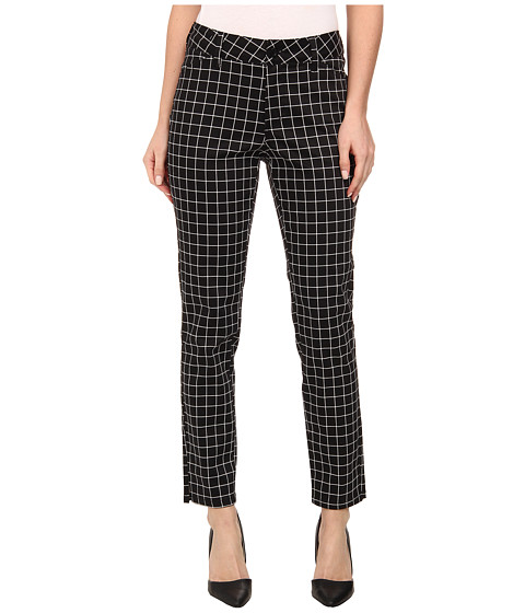 NYDJ - Celia Trouser - Grid Print (Black) Women's Casual Pants