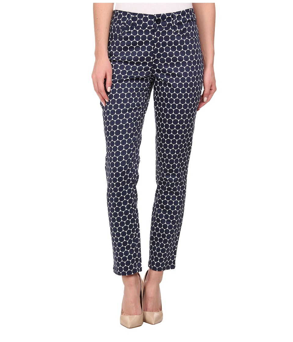 NYDJ - Clarissa Skinny Ankle - Optical Dots (Navy) Women's Casual Pants