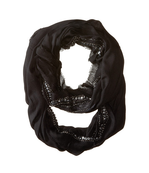 BCBGMAXAZRIA - Embellished Loop Scarf (Black) Scarves